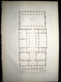 Vitruvius Britannicus C1720 Architectural Plan. Mansion House, London